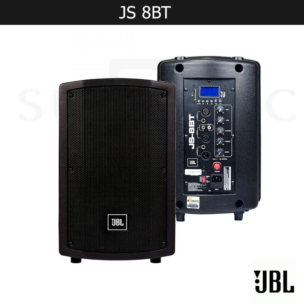 "JBL JS8BT HARMAN 8"" PRO DJ PA SPEAKER WITH BLUETOOTH LED PAN"