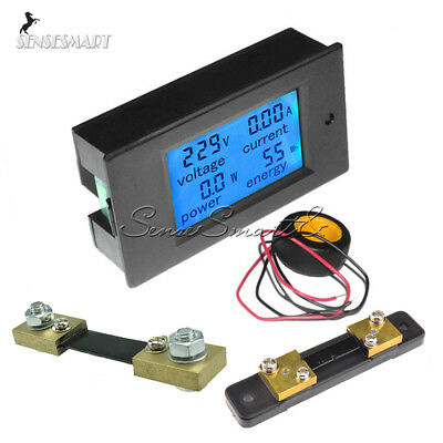 Ac 80260v 20-50-100a Dc 6.5100v Lcd Digital Display Volt Amp Power Watt Meter