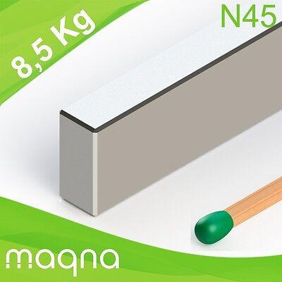 Neodym Quadermagnet, 40x10x5mm, vernickelt, Grade N45 Blockmagnet Neodym Quader