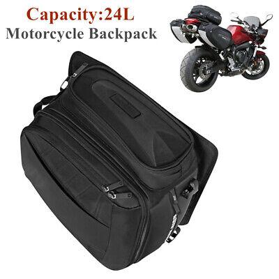 24L Motorcycle Rear Seat Bag Waterproof Travel Luggage Shoes Helmet Tail Case