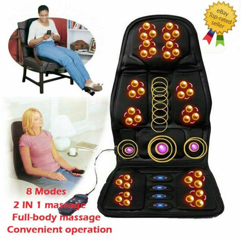 Shiatsu Full Back Massage Cushion Car Chair Seat Home Massager Neck Heat US