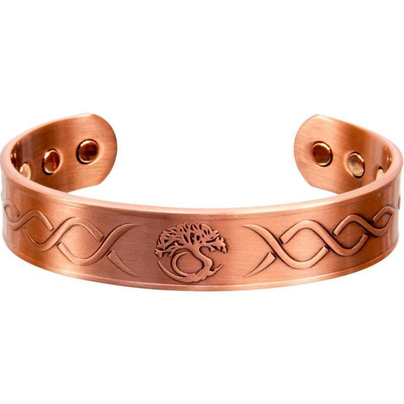Adjustable Magnetic Antiqued Copper Bracelet with Tree of Life Design!