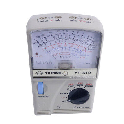 Portable Insulation Tester High Resistance Meter Yf-510 Ac Voltage 0600v