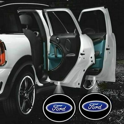 2x FORD Logo Wireless Car Door Welcome Laser Projector Shadow LED Light Emblem