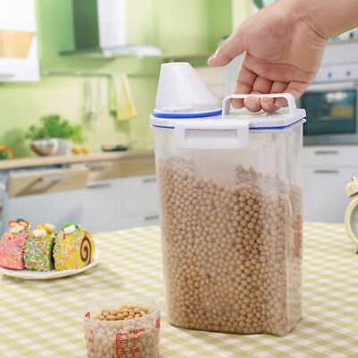 Box Dispenser Storage Kitchen Dry Food Cereal Food Rice Container Tank Grain