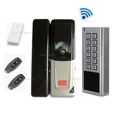 433mhz Wireless Electric Lock Remote Control Mortise Lock With Metal Keypad Exit