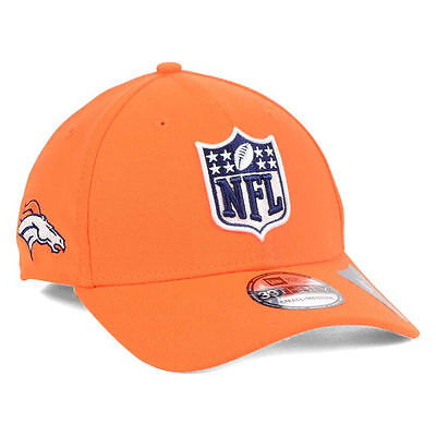 Denver Broncos New Era Nfl Shield Team Logo 3930 Fantasy Football Cap Hat Orange