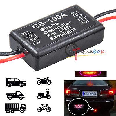 12V GS-100A LED Brake Stop Tail Light Strobe Flash Module Controller Box Module ()
