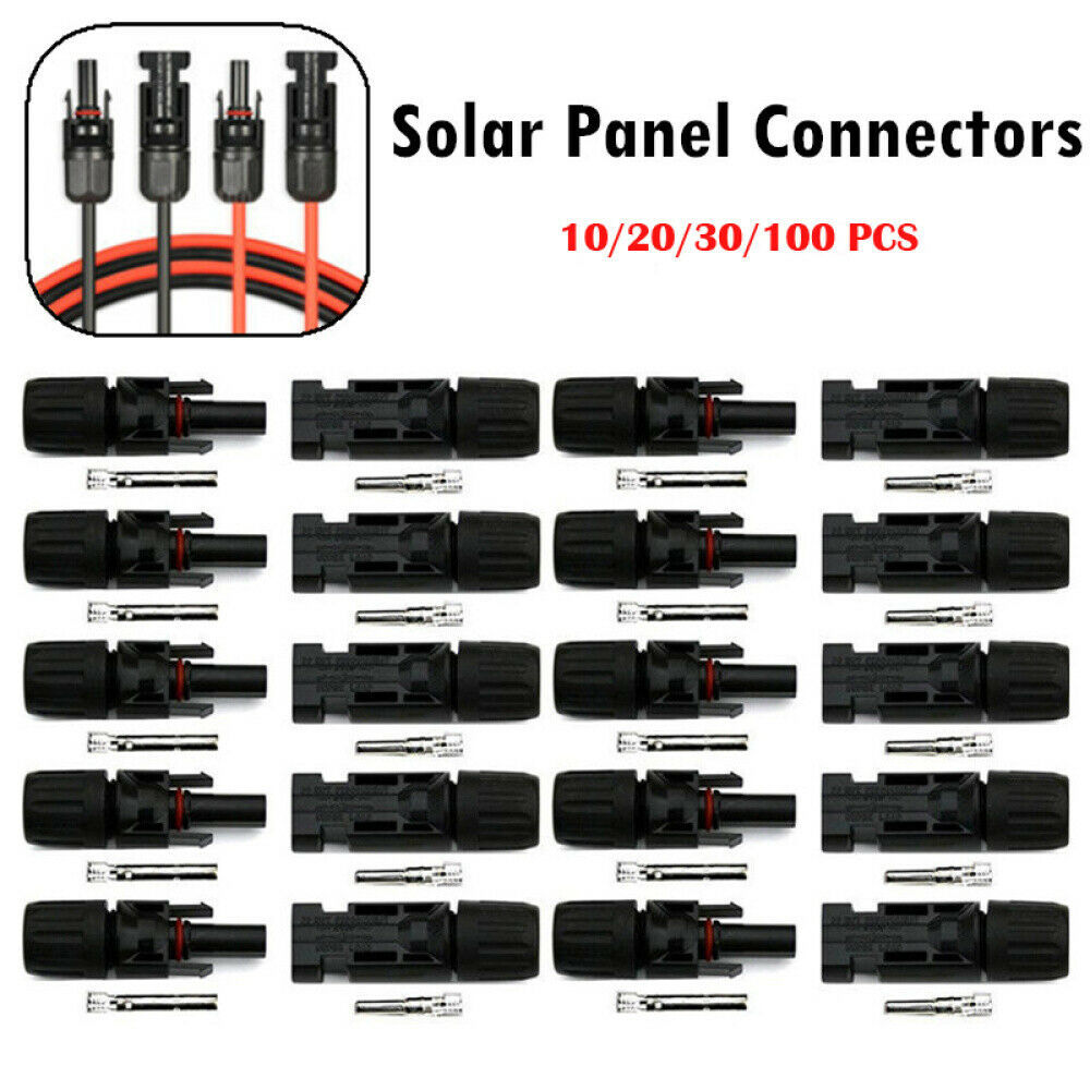 Adapter Waterproof Male//Female M//F Wire Cable Solar Panel Connector Plug