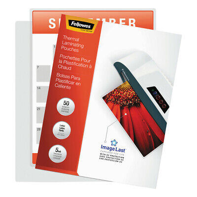 Fellowes Laminating Pouches With Uv Protection 5mil 11 12x9 100pk 52040 New