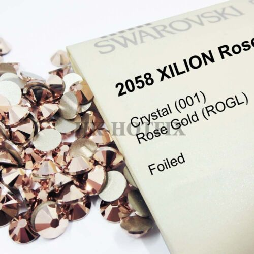 Authentic Swarovski Crystal Rose Gold (NO Hotfix) Flatback Rhinestones Bead Gems