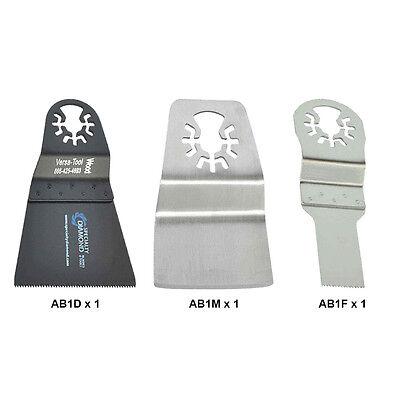 Abmtkit10 3 Pcs Universal Tool Fit Wide Cut Oscillating Accessory Kit Rep Dewalt