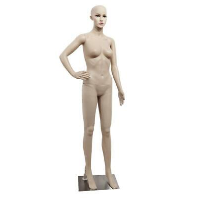 Full Body Realistic Female Mannequin Plastic Clothes Display W Base Us Ship