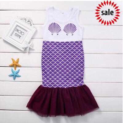 SALE ! Summer Girls Kids Beauty Mermaid Shell Princess Dress Party Cosplay Dress - Beautiful Girl Dresses Sale