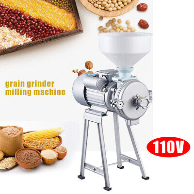 2200w Electric Feed Mill Wet Bean Grinder Rice Corn Grain Coffee Wheat 1400rmin