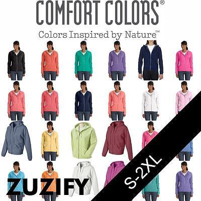 Pigment Dyed Ladies Full Zip ( Comfort Colors Pigment-Dyed Ladies Full-Zip Hooded Sweatshirt. 1598)