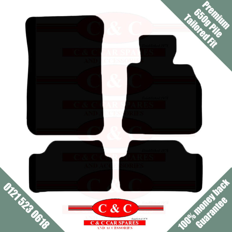 LEXUS CT 200H - 4 CLIPS 650g HIGH PILE TAILORED PREMIUM CAR MATS IN BLACK