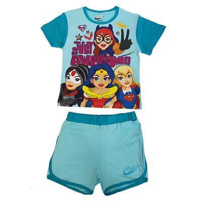 DC SuperHero Girls 2 piece Short Pyjama Sizes from 3 to 8 years