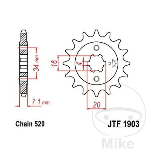 Chain DID 520VX3 Sprocket 14 Sprocket 45 Gbr KTM 125 Duke