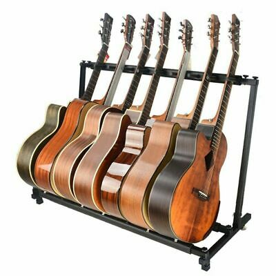 Multi Guitar Stand 9 Holder Folding Organizer Rack Stage Bass Acoustic Electric