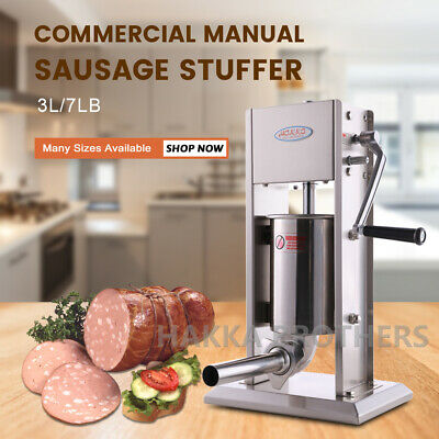 Hakka 3l Sausage Stuffer Meat Filler Machine Vertical 7lb Stainless Steel Maker