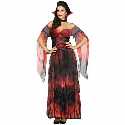 NEW Fun World Vampire Countessa Women Halloween Dress Up Costume Sz: S/M - Vampire Dress Up