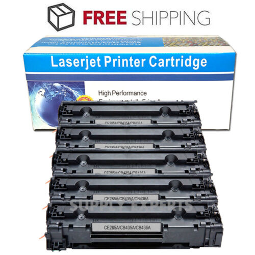 Compatible 3Pk HP CB436A 3x Black 36A Black Toner Cartridge for M1120//M1522