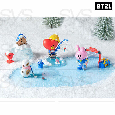 BTS BT21 Official Goods Collectible Figure Blind Pack Vol4 Winter Theme 7SET
