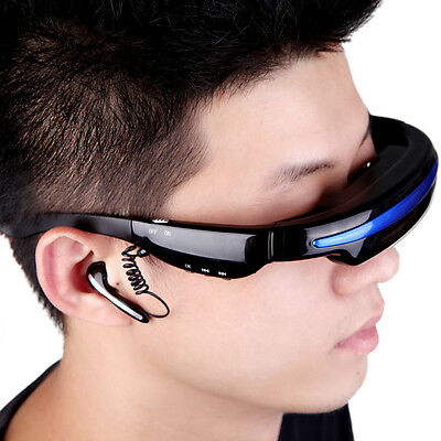 """52"""" Inch Virtual Wide Screen Video Glasses Eyewear Mobile Private Theater 4GB 4G"""