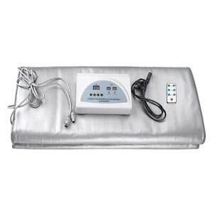 NEW TTLIFE Digital Far-Infrared (FIR) Heat Sauna Blanket with 2 Zone Controller to Reduce Weight Thin Body Home Beaut...