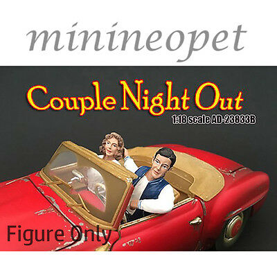 AMERICAN DIORAMA 23833 B SEATED COUPLE II 2 PIECE FIGURE SET FOR 1/18 DIECAST