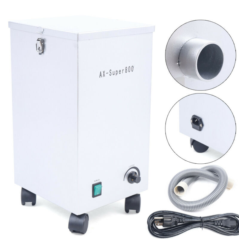 Dental Portable Dust Collector Vacuum Cleaner Lab Dust Removal Machine 110V 800W