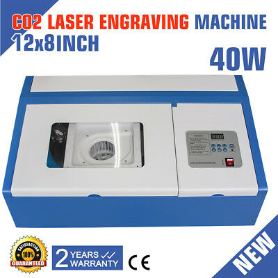 40w Co2 Stamp Laser Engraving Cutting Machine Engraver Usb Port High Precise Usa