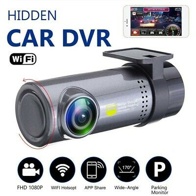Wireless Wifi Hidden Car DVR Camera Dash Cam 1080p HD GSensor Video Recorder US