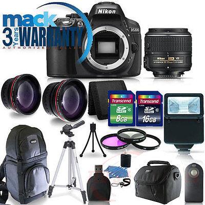 NEW Nikon D5300 Digital SLR Camera + Lens Kit 18-55mm VR + 24GB Complete Kit