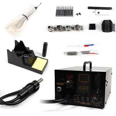 4 In 1 Digital Soldering Iron 968a Smd Hot Air Station Kit Fume Extractor New