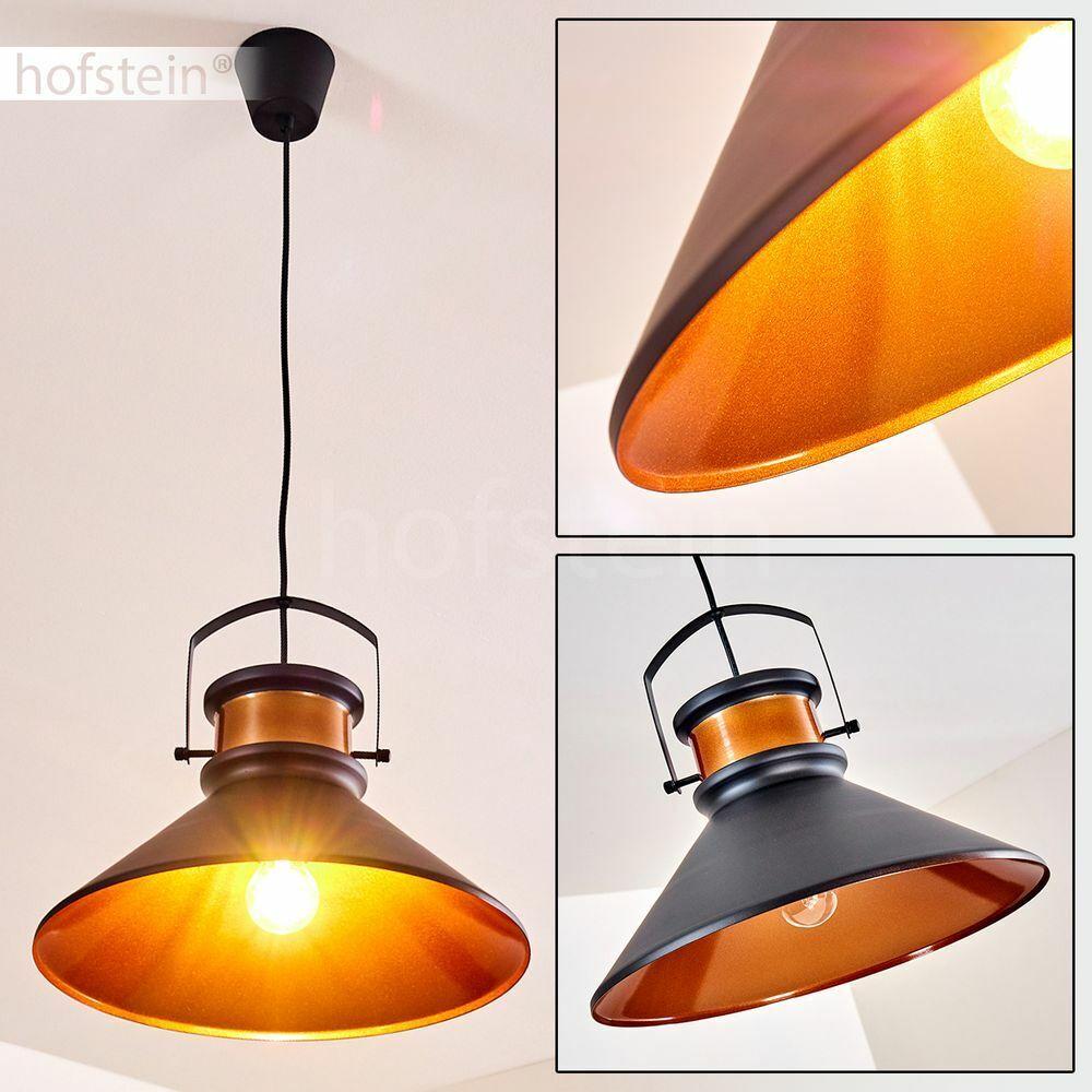 Retro Hänge Leuchte Wohn Schlaf Ess Tisch Raum Pendel Lampe schwarz/Kupferfarben