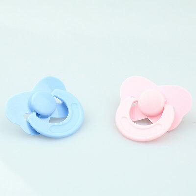 Reborn Baby Dolls Accessories 2 Pcs/set Tiny Pacifier Dummy Pink Blue