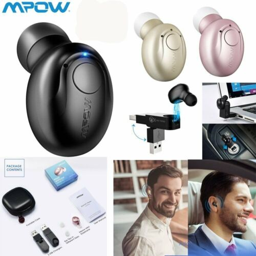 MPOW Bluetooth V4.1 Wireless Mini Earbud Headset Headphone w