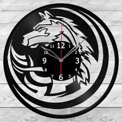 Vinyl Clock Wolf Record Wall Clock Home Decor Original Gift 1842