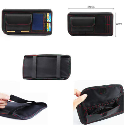 Car Sun Visor Shade Storage Bag Organizer Holder for Card Mobile Phone (Sunglasses Mobile Al)