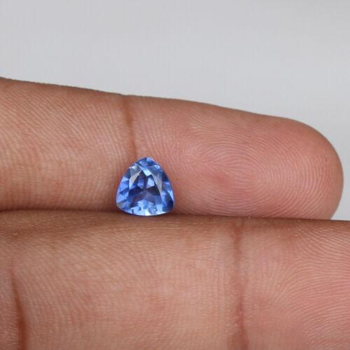 Natural Sapphire Ceylon Cornflower 1.85 Ct Trillion Loose Gemstone Certified