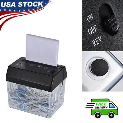 Mini Portable Usb Paper Shredder Cutter Strip Cut A6 A4 Cutting Machine Tool