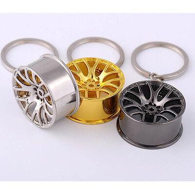 2017New Creative Wheel Hub Rim Model Mans Keychain Car Key Chain Cool Gift Pop