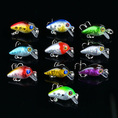 Wholesale 100pcs Mini Crank Fishing Lures CrankBait Baits Bass Tackle 2.6cm/1.6g