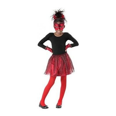 Red Devil Halloween Red Tutu & Mask Accessory Kids Costume Set Child - Devil Tutu Halloween Costume