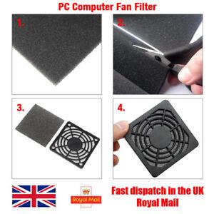 PC Computer Fan Dust Proof Filter Foam Sheet, 3mm Thick, 25cm x 25cm (625cm²)
