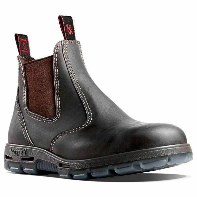 Redback Bobcat Claret Oil Kip UBOK Elastic Sided Soft Toe Work Boots