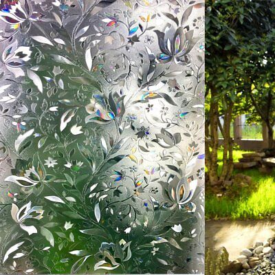 Window Film patterns Frosted Privacy Screen Decorative Sticker Stained Glass  Decorative Privacy Window Film
