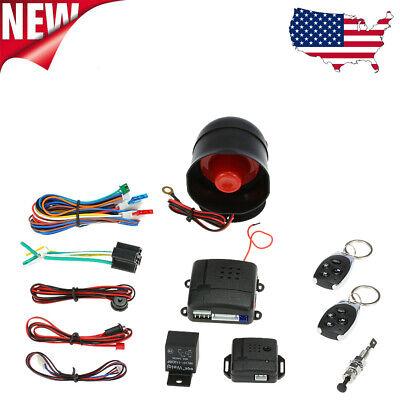 Universal Auto Car Alarm Security System Keyless Entry& 2 Remote Anti-theft J3J8